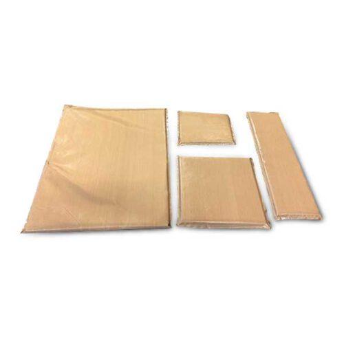 Complete set teflon kussentjes voor het bedrukken van kleding