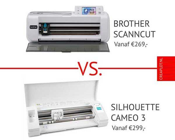 productvergelijken silhouette cameo 3 vs Brother ScanNCut