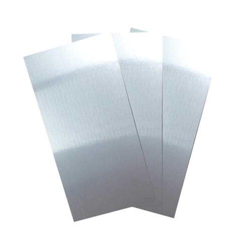 Geborsteld zilver aluminium sublimatie platen.