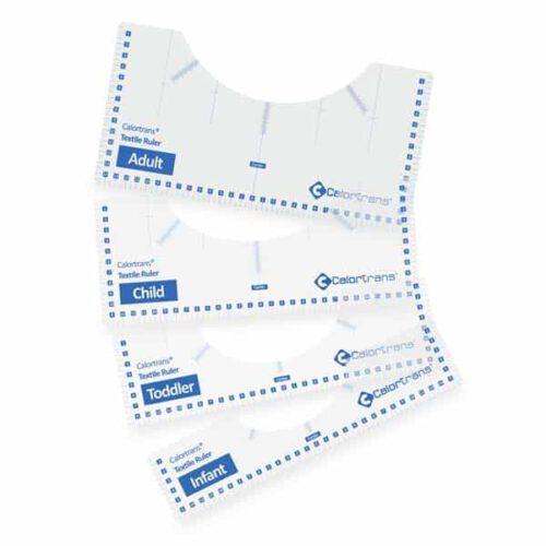 Calortrans Linialen set voor het uitlijnen van flex druk op kleding