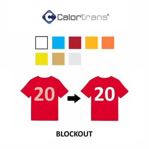 Blockout sublistop textielfolie flex voor op polyester