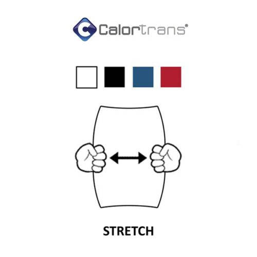 Stretch folie voor rekbare kleding zoals lycra of sportkleding