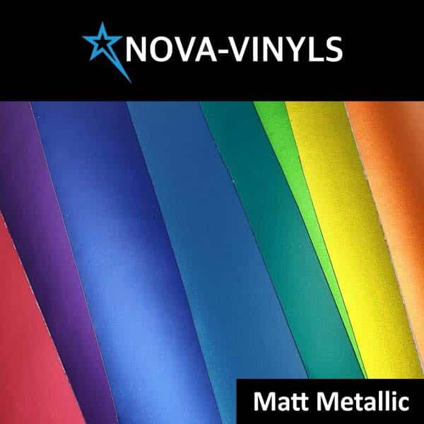 Nova-Vinyl matt metallic stickerfolie